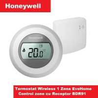 Termostat Wireless Honeywell T87RF 1zona ,receptor on/off BDR91