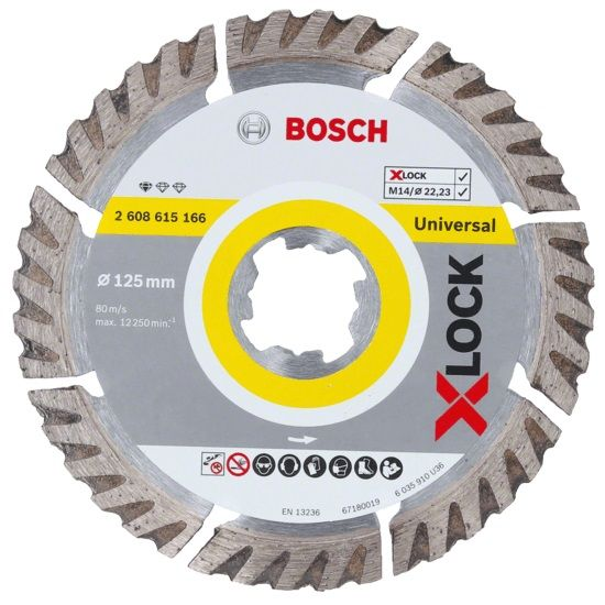 Disc Diamantat D125 22.23x2mm BOSCH Standard Universal X Lock
